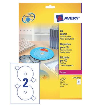 Avery ETIKET CD L7760-25 GL 50STKS