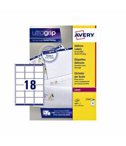 Avery ETIKET L7161-100 63.5X46.6 1800STKS