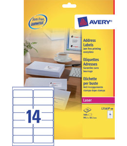 Avery ETIKET L7163-40 99.1X38.1 560STKS