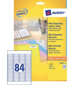 Avery ETIKET L7656-25 46X11.1 2100STKS
