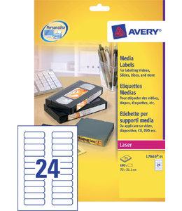 Avery ETIKET L7665-25 72X21.2 600STKS
