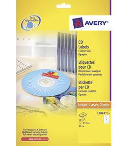 Avery ETIKET CD L6043-25 50STKS