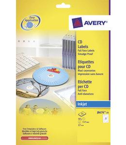 Avery ETIKET CD J8676-25 50STKS