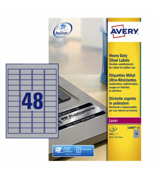 Avery ETIKET L6009-20 45.7X21.2 960STKS