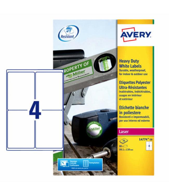 Avery ETIKET L4774-20 99.1X139 80STKS
