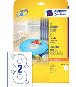 Avery Zweckform ETIKET CD L6015-25 50STKS