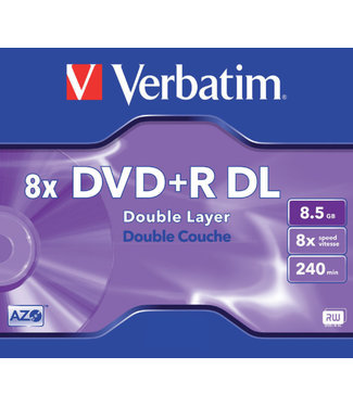 Verbatim DVD+R 8.5GB 8X DL JC 5STKS
