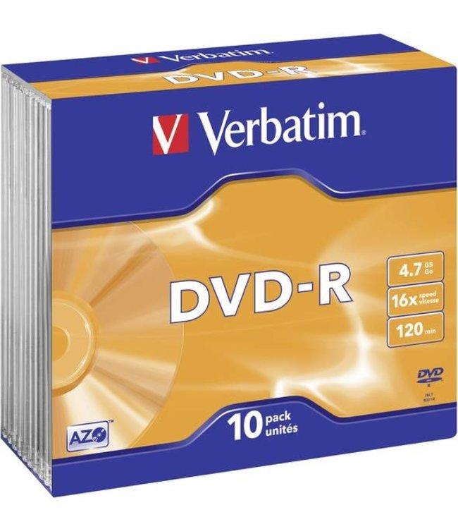 Verbatim DVD-R 4.7GB 16 SC 10STKS