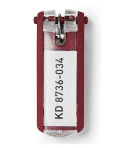 Durable SLEUTELLABEL 1957 MET RING RD 6STKS