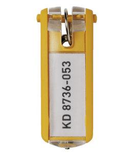 Durable SLEUTELLABEL 1957 MET RING GL 6STKS