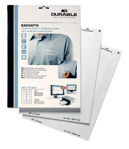 Durable NAAMBADGE ETIKET 8334 240STKS