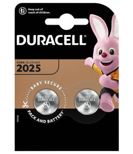 Duracell BATTERIJ 2025 LITHIUM 2STKS