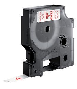 Dymo LTAPE 40915 9MM WT/RD