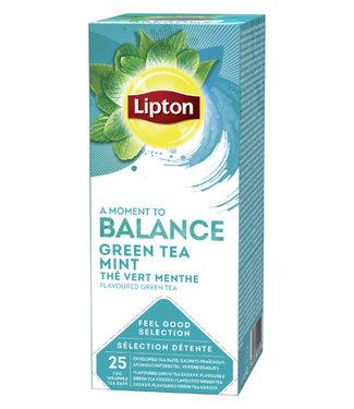 Lipton THEE BALANCE GREEN TEA MINT 3X25STKS