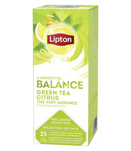 Lipton THEE BALANCE GREEN TEA CITRUS 3X25STKS