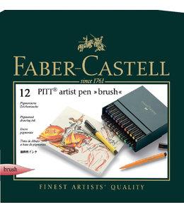 Faber Castell BRUSHSTIFT PITT ARTIST 12STKS