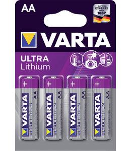 Varta BATTERIJ AA PRO LITHIUM 4STKS