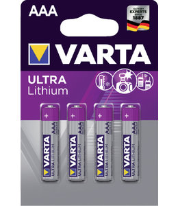 Varta BATTERIJ AAA PRO LITHIUM 4STKS