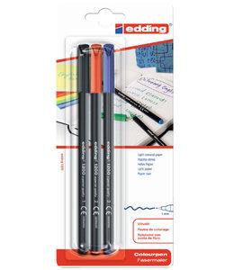 edding FINELINER 1200 1-3MM ASS 3STKS