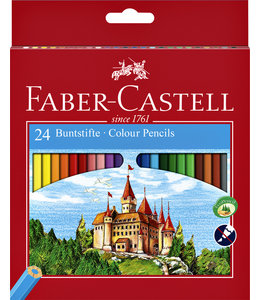 Faber Castell KLEURPOTLOOD ASS 24STKS