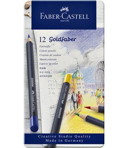 Faber Castell KLEURPOTLOOD GOLDFAB ASS 12STKS
