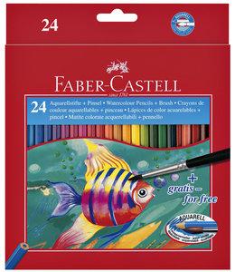 Faber Castell KLEURPOTLOOD AQUAREL ASS 24STKS
