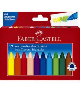 Faber Castell WASKRIJT 3HK ASS 12STKS