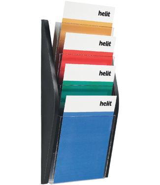Helit FOLDERHOUDER WAND 4XA4 ZWRT