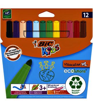 Bickids KLEURSTIFT ECOLU VISAC XL 12STKS