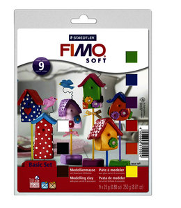 Fimo Staedtler KLEI SOFT BASIC ASS 9STKS