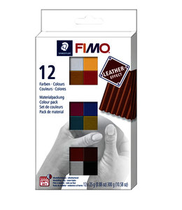 Fimo Staedtler KLEI LEATHER ASS 12STKS