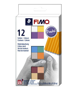 Fimo Staedtler KLEI SOFT COLOUR PA ASS 12STKS