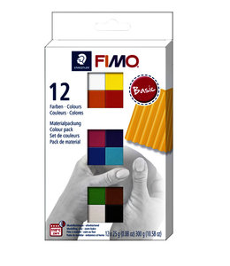 Fimo Staedtler KLEI SOFT COLOUR BAS ASS 12STKS