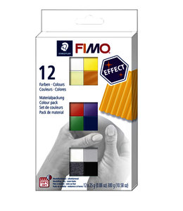 Fimo Staedtler KLEI EFFECT COLOUR ASS 12STKS