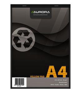 Aurora SCHRIJFBLOK A4 LIJN 4G GEEL 5STKS