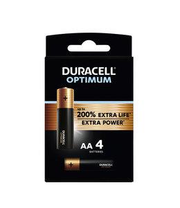 Duracell BATTERIJ OPTIMUM AA 4STKS