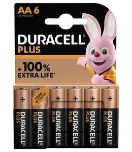 Duracell BATTERIJ PLUS AA 6STKS