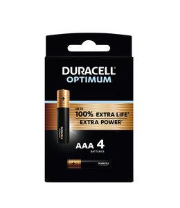 Duracell BATTERIJ OPTIMUM AAA 4STKS