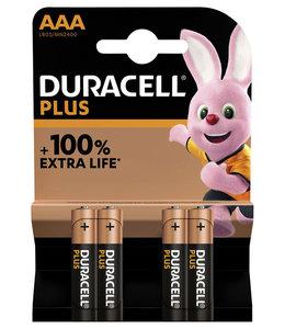 Duracell BATTERIJ PLUS AAA 4STKS