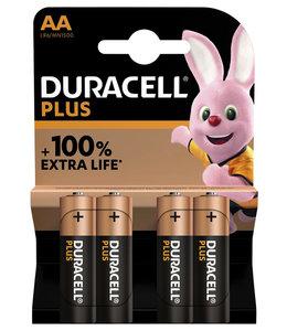 Duracell BATTERIJ PLUS AA 4STKS