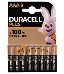 Duracell BATTERIJ PLUS AAA 8STKS