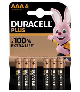 Duracell BATTERIJ PLUS AAA 6STKS