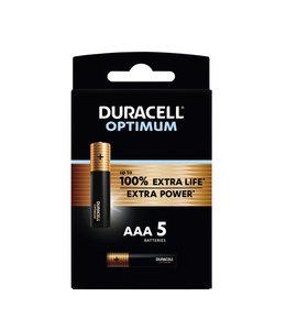 Duracell BATTERIJ OPTIMUM AAA 5STKS