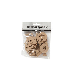 Creotime LETTERS A-Z HOUT 4CM ASS 26STKS