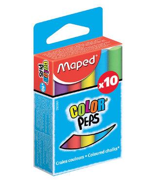 Maped SCHOOLBORDKRIJT COLOR'PEPS ASS 10STKS