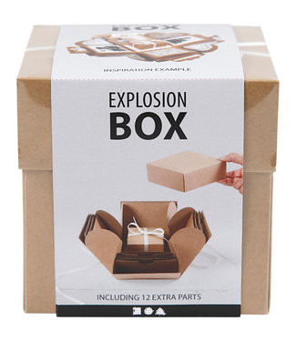 Creotime EXPLOSION BOX 12X12X12CM NATUREL