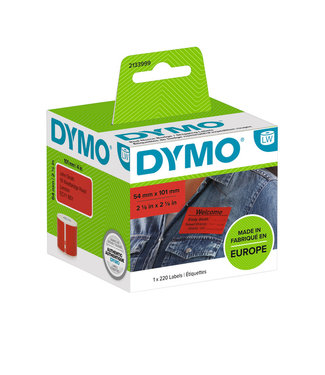 Dymo L-ETIKET 2133399 54X101MM ZW/RD