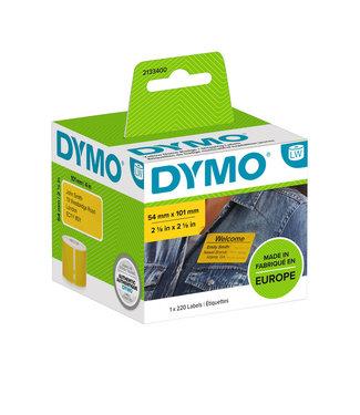 Dymo L-ETIKET 2133400 54X101MM ZW/GL