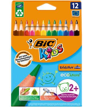 Bic KLEURPOTLOOD KIDS EVO  ASS 12STKS