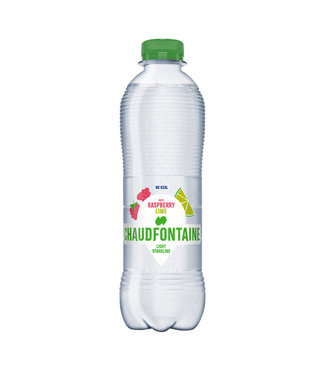 Chaudfontaine WATER FRAMB/LIME FLES 0.5L